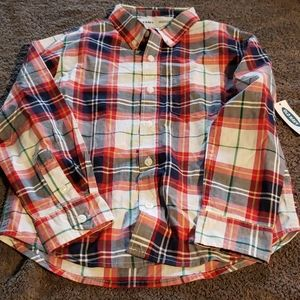 Long sleeves button down shirt size 6-7